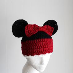 Minnie Mouse Hat for Adults