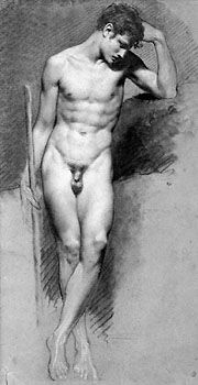 Pierre Paul Prud'hon Male Nude Standing