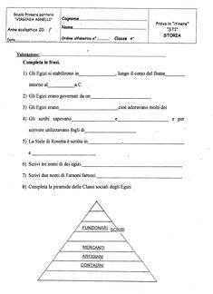 Risultati immagini per schede didattiche egizi classe quarta