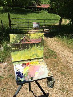 Original Oil Paintings by tennessee artist jason saunders Landscape Art, Landscape Paintings, Painting Inspiration, Art Inspo, Art Hoe Aesthetic, Farm Paintings, Traditional Paintings, Pastel Art, Art Studies