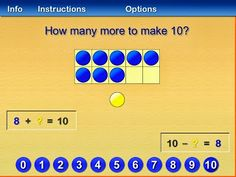 10 Frame Fill a FREE app for building number sense, subitizing and combinations of 10!
