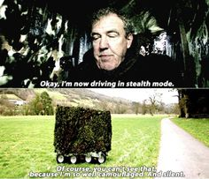 That camouflage, Jeremy Clarkson Top Gear BBC
