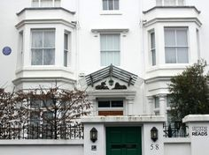 LONDON, ENGLAND   l   Agatha Christie lived here. 58 Sheffield Terrace, Holland Park, W8 7NA