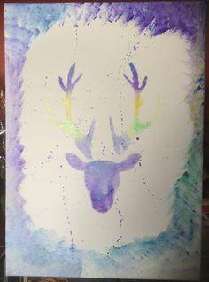 tableau toile tête de cerf artistique patronus : Peintures par jartiste