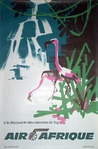 Airline/Aviation Poster: Air Afrique - Togo , Country: Africa , Artist: Dessirier