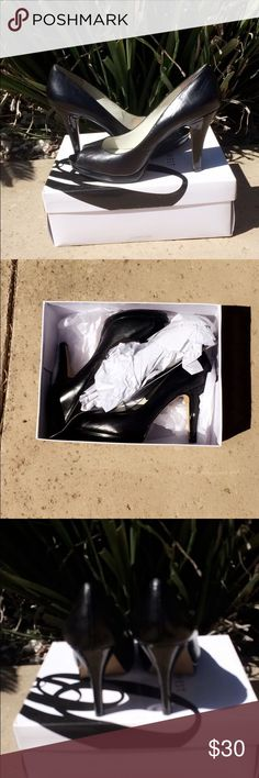 Selling this Nine West Black Peep Toe Heels on Poshmark! My username is: oliviapatt. #shopmycloset #poshmark #fashion #shopping #style #forsale #Nine West #Shoes