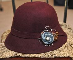 Denim Rosette Clip with French Veiling and by TheLavenderLounge, $5.00