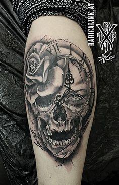 Crane, Skull, Ink, Tattoos, Tatuajes, Tattoo, India Ink, Tattos, Skulls