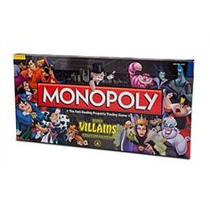 NEED!!! :) Disney Villains Collector's Edition Monopoly® Game | Disney StoreDisney Villains Collector's Edition Monopoly� Game - The classic board game has been given an evil twist with the Disney Villains Collector's Edition Monopoly. Choose from more than 30 Disney villains as you customize your game board to include your favorite baddies!