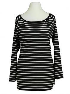 Damen Ringelshirt, schwarz von fashion made in italy bei www.meinkleidchen.de