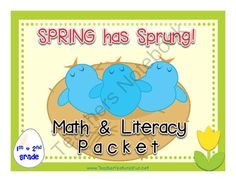 Spring has Sprung! Math and Literacy Packet from Teacher Features on TeachersNotebook.com -  (88 pages)  - Believe it...spring has sprung! This packet is Common Core-aligned and contains 88 pages of spring and egg-related games and activities.