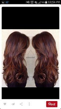 Getting this soon! Brown to auburn hair. Auburn hair. With caramel highlights. Let's do this. Perfect hair.