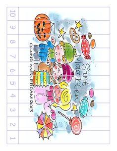 * Cijferpuzzel 10 naar 1 Blond Amsterdam, November, School, November Born