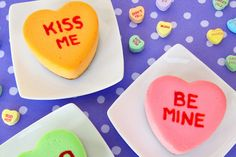 Conversation Heart Cheesecakes (from Hungry Happenings)