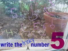 How to Teach Kids to Write (the sometimes tricky) Number 5 #weteach