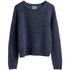 Mtwtfss Weekday Lu Knit Sweater Dk Grey ❤ liked on Polyvore featuring tops, sweaters, shirts, jumpers, women, knit sweater, gray shirt, knit shirt, gray knit sweater and gray jumper