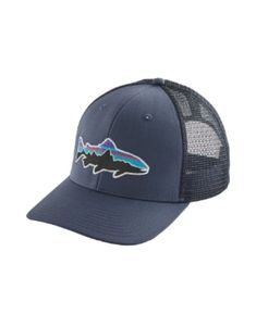 5b6dec3af7076 Shade your face with the laid back angling style of the Patagonia Fitz Roy  Trout trucker