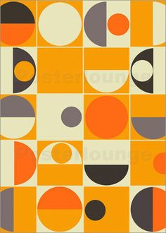 "Poster / Leinwandbild ""panton orange"" - art studio"