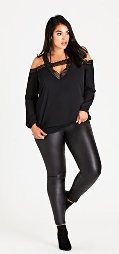 Plus Size Lace Top #plussize