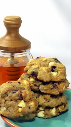 Drunken Healthy Banana Orange Cranberry Craisin Cookies  I used Cointreau (Orange Liquor), but Orange Juice would work as well, Craisins (my new FAVORITE INGREDIENT), Bananas.  PLUS THESE ARE SWEETENED WITH HONEY.  At only 1/2 cup of sugar these may not be healthy but the sure are sweet and DELICIOUS!
