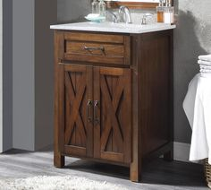 Check Out These Hot Deal Maud 24 Single Bathroom Vanity Set By Millwood Pines Rustic Bathroom Vanities, Double Sink Bathroom, Single Bathroom Vanity, Bathroom Vanity Lighting, Bathroom Furniture, Bathroom Ideas, Pallet Bathroom, Single Vanities, Marble Bathrooms
