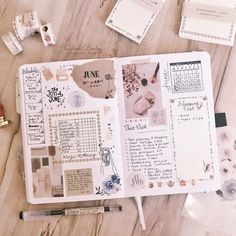 My weekly planning bullet journal 📔 I have shared one of these in a while. Bullet Journal Lettering, Bullet Journal Notes, Bullet Journal Aesthetic, Bullet Journal Spread, Bullet Journal Ideas Pages, Bullet Journal Layout, My Journal, Bullet Journal Inspiration, Scrapbook Journal