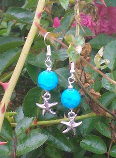 turquoise venus bead earrings