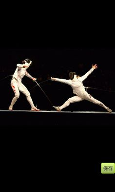 loving that all the fencing photos on pinterest are epee