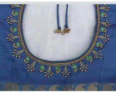 29 Ideas For Embroidery Bird Simple Sew Pattu Saree Blouse Designs, Blouse Designs Silk, Blouse Neck Designs, Blouse Patterns, Hand Work Blouse Design, Simple Blouse Designs, Stylish Blouse Design, Embroidery Neck Designs, Embroidered Blouse
