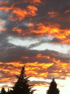 Sunset off my deck in Maple Ridge, B.C.