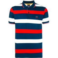Paul   Shark striped polo shirt ( 161) ❤ liked on Polyvore featuring men s  fashion, men s clothing, men s shirts, men s polos, mens striped polo  shirts, ... b9d304212f