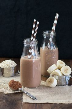 Coconut, Banana & Chocolate Breakfast Smoothie made in a Vitamix | CharlottesLivelyKitchen.com