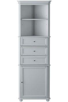 Home Decorators Collection Hampton Harbor 23 In W X 13 D 67 1 2 H Corner Linen Cabinet White