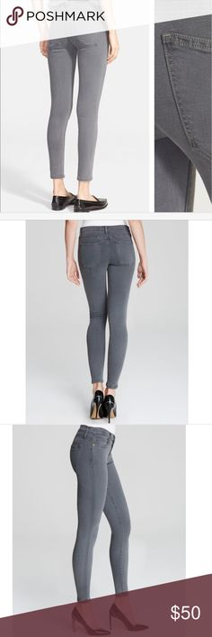 Current Elliot the stiletto gray 25 A true skinny that hugs every curve and cropped at the ankle. Inseam is 25in. Current/Elliott Pants Ankle & Cropped