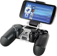 Nyko Smart Clip - PlayStation 4 - Attaches your smart phone to the Dual Shock 4 wireless controller; Use with the PlayStation App to integrate second screen features with your controller Browse the internet to access walkthroughs; gameplay vids; codes and more; Fully adjustable viewing angle / tighten knobs to lock position;...