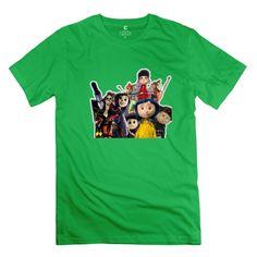 Male Coraline Customized O Neck Black T-Shirt By Mjensen XX-Large