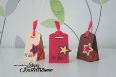 Weihnachtliche Verpackung für Ferrero Küsschen Material u.a. © by Stampin Up!  #StampinUp #Weihnachten #Verpackung #Küsschen