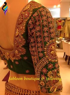 Colors & Crafts Boutique™ offers unique apparel and jewelry to women who value versatility, style and comfort. For inquiries: Call/Text/Whatsapp Wedding Saree Blouse Designs, Pattu Saree Blouse Designs, Fancy Blouse Designs, Shirt Designs, Sari Bluse, Mode Blog, Work Blouse, Indian Designer Wear, Blouse Styles