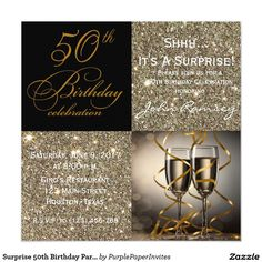 Surprise 50th birthday party invitations wording pinterest surprise 50th birthday party invitations 525 square invitation card filmwisefo