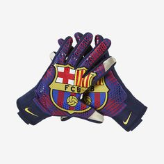 NIKE FC BARCELONA STADIUM FIELD PLAYER GLOVES Black/Red/Red BARCA PRIDE The FC Barcelona Stadium Gloves feature your favorite club's logo on the palms and Txt-on material for easier touch-screen navig