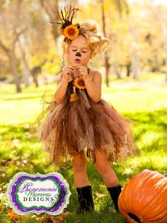 Adorable Scarecrow Tutu Dress