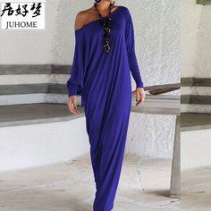 Plus Size Summer Casual Shift Long Dress women Clothing 2017 blue big size long Sleeve elegant Maxi floor length vestido de fest