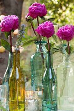 Peonies might be tough, but these bottles are lovely.