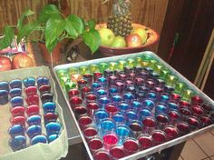 Jello shots for my 19th birthday :)