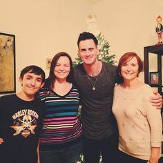 Joe Rickard and his mom and family.