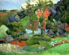 Landscape of Pont Aven, 1886. Paul Gauguin
