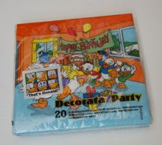 DISNEY DONALD DUCK PAPER PARTY NAPKINS 20 IN A PACK HAPPY BIRTHDAY