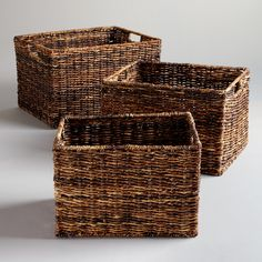 Madras Rectangular Baskets | World Market | perfect for hiding baby toys in the living room