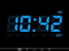 Simple clock iPad