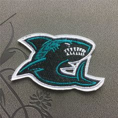 Shark Patch Embroidered Patch Iron On Patches sew on patches Fish patch
